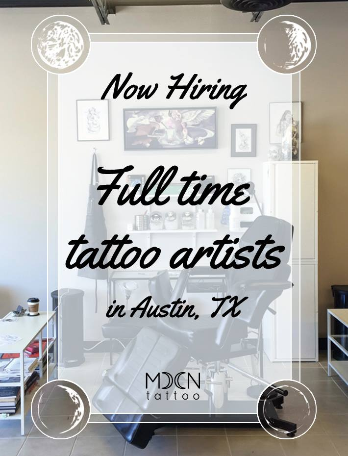 Moon Tattoo is hiring full time tattoo artists